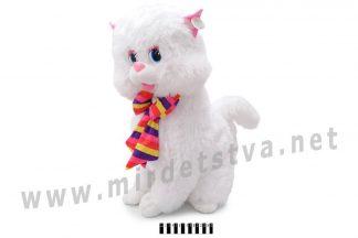 Белый котик с бантиком Масяня 1288