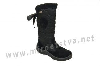 Черные детские зимние сапоги на мембране Floare 2424550530