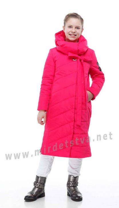 Демисезонное яркое пальто для девочки Origa Вероника