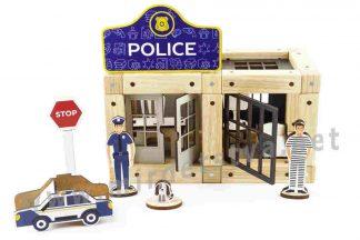 Деревянный конструктор на магнитах ТМ Zevs-toys 400323 «Police» 72 детали