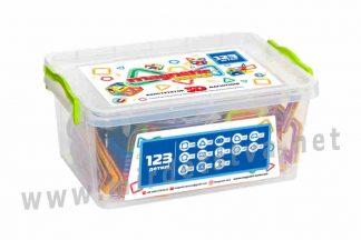 Детский конструктор Magnetic land 28474076 Синий 123 детали