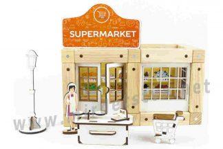 Эко-конструктор магнитный ТМ Zevs-toys 400322 Supermarket 54 детали