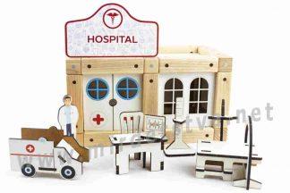 Эко-конструктор на магнитах ТМ Zevs-toys 400321 Hospital 66 деталей
