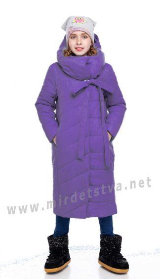 Фиолетовый пуховик зимний Origa Вероника