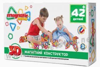 Конструктор Magnetic land 28474071 Зеленый + 42 детали