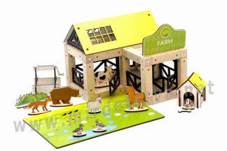 Конструктор на магнитах ТМ Zevs-toys 400328 Farm 95 деталей