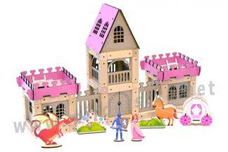 Магнитный конструктор ТМ Zevs-toys 400329 «Castle for girl» 133 детали