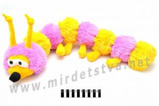 Мягкая игрушка гусеница фиолетового цвета В083 Масяня