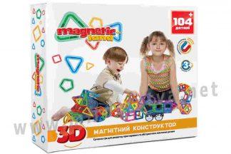 Набор игровой Magnetic land 28474075 Красный+ 104 детали