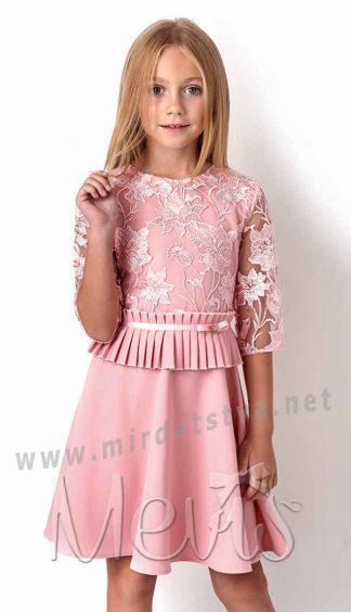 Нарядное платье с кружевом Mevis 3071-01