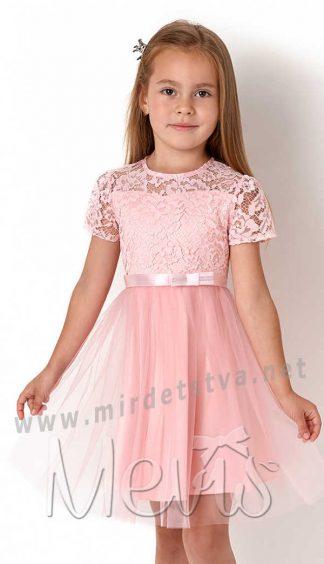 Нарядное розовое платье Mevis 3137-02