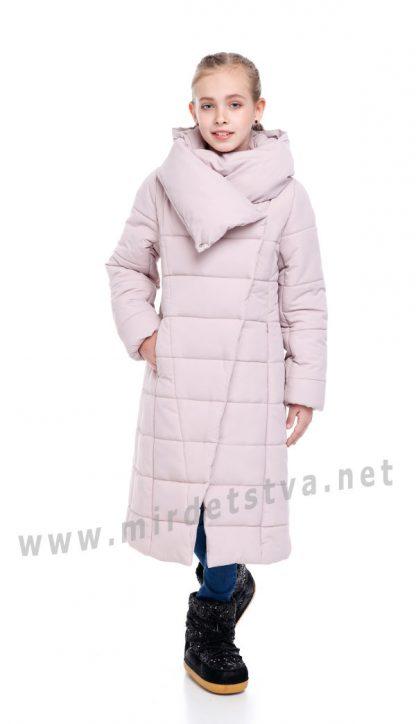 Пальто зимнее с капюшоном для девочки Origa Комильфо