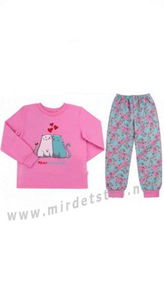 Пижама для девочки байковая Бемби ПЖ42