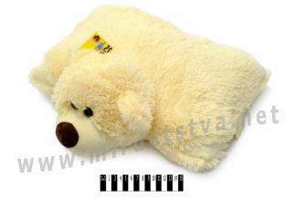 Подушка медведь В039 молочного цвета
