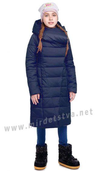 Синее зимнее пальто для девочек Origa Комильфо