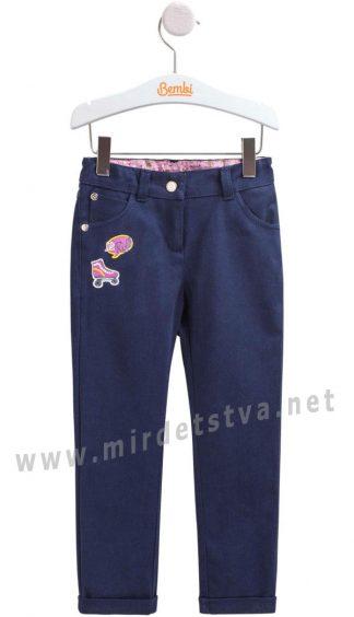 Синие коттоновые брюки Бемби ШР569