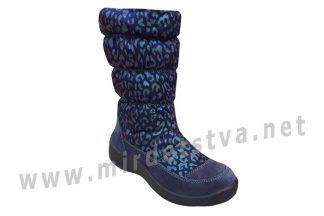 Синие зимние сапоги для девочек Floare 44157-1