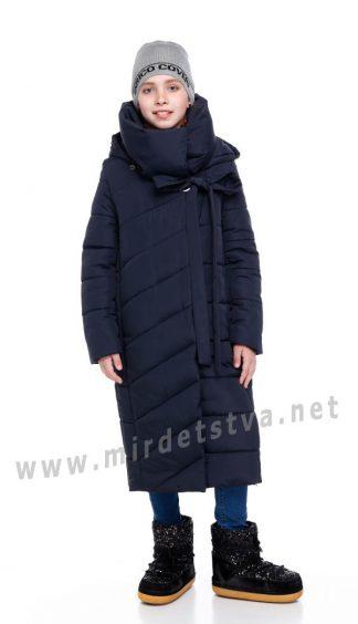Синяя удлиненная зимняя куртка Origa Вероника