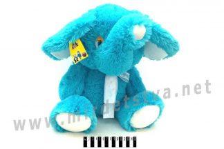 Слоник мягкий Масяня В098 голубого цвета