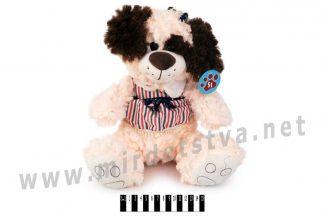 Собачка музыкальная в платье Масяня 2825С