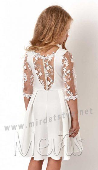 Торжественное платье с кружевом Mevis 3105-01