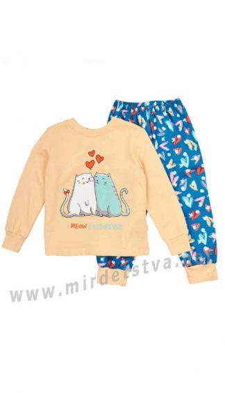 Утепленная пижама для девочки Бемби ПЖ42