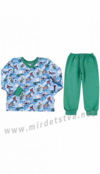 Утепленная пижама для мальчика Бемби ПЖ41