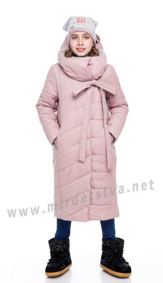 Зимнее удлиненное пальто для девочки Origa Вероника
