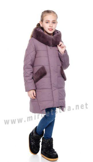 Зимний пуховик для девочки Origa Юта