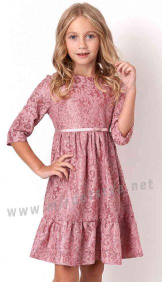 Красивое розовое платье Mevis 3131-02