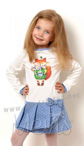 Платье с длинным рукавом для девочки Mevis 2539-01