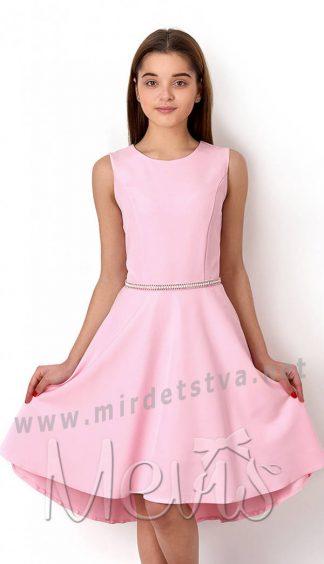 Подростковое платье розовое Mevis 2778-01