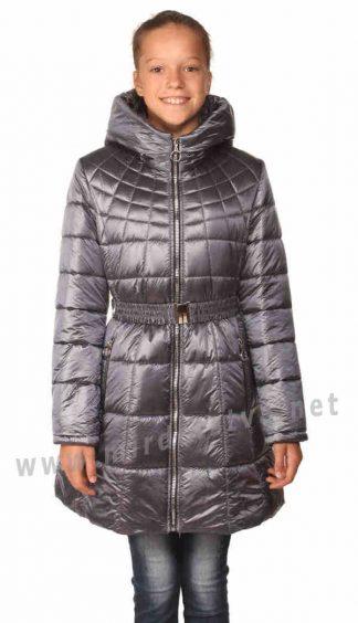 Приталенное стеганое демисезонное пальто на девочку Nestta Max Mara серое