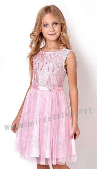Розовое платье для девочки Mevis 3130-01