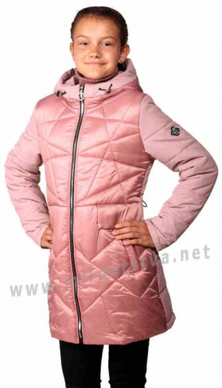 Современная демисезонная куртка девочкам Nestta Venesia розовая