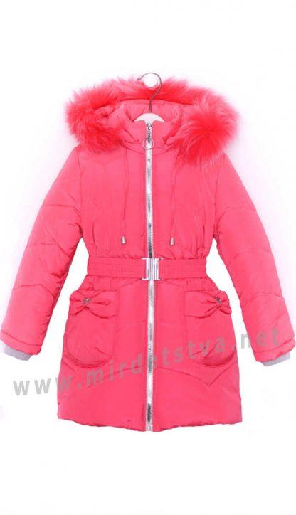 Теплая удлиненная куртка для девочки Nestta Bantik