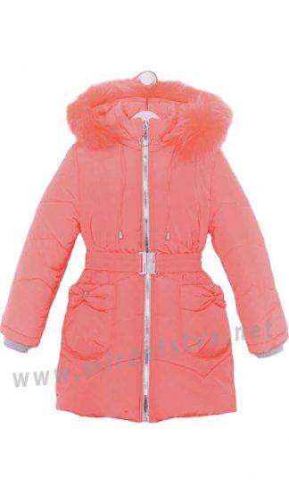 Удлиненная куртка светло-кораллового цвета Nestta Bantik