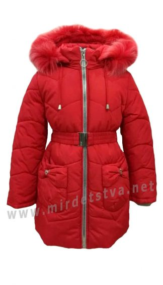 Зимнее детское пальто для девочки Nestta Bantik