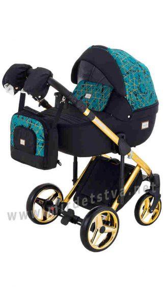 Детская коляска Adamex 2в1 Luciano Polar Gold Y841