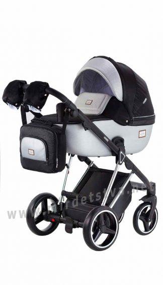 Детская коляска Adamex 2в1 Mimi Polar Y843 черный серебро