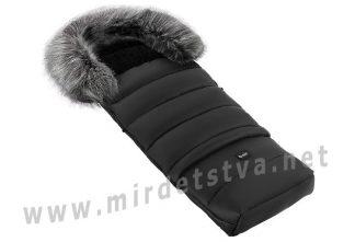 Детский зимний конверт Bair Arctic с удлинением черный