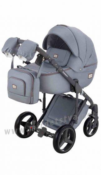 Коляска детская Adamex 2в1 Luciano Q121 серый перламутр
