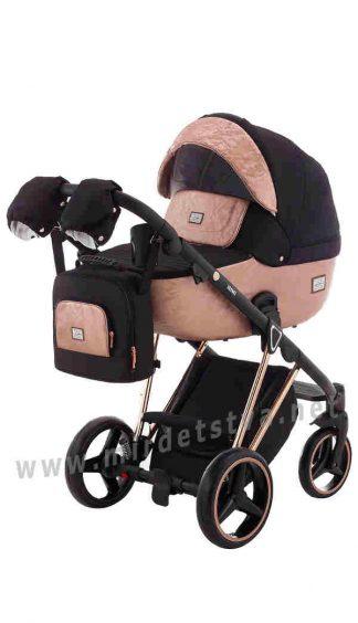 Коляска детская Adamex 2в1 Mimi Polar Pink Gold BR604