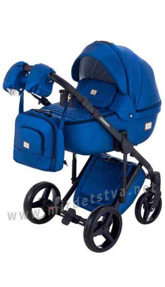 Коляска для малыша Adamex 2в1 Luciano Y220 темно-синий
