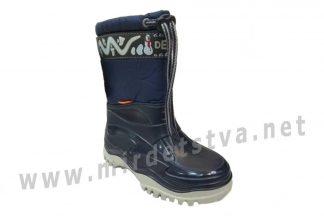 Непромокаемые зимние сапоги Demar Frost 0376 синего цвета