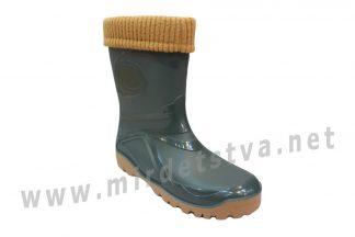 Подростковые резиновые сапоги со съемным носком утеплителем Demar Young 2 fur 0466