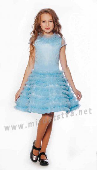 Праздничное платье Lukas 9536 нежно голубого цвета