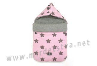 Розовый конверт универсальный Cottonmoose Pooh 330 27 49 звезды