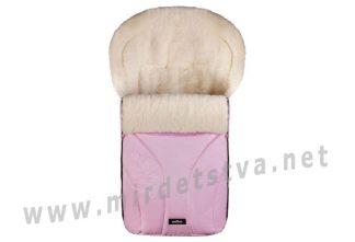 Розовый зимний конверт Womar Zaffiro №25 с вышивкой