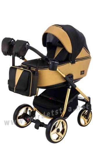 Современная коляска 2в1 Adamex Sierra Polar Gold SR436